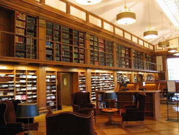 美国最古老图书馆:哈佛大学图书馆图片