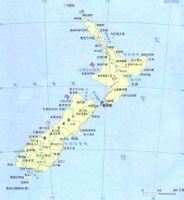 新西兰地图