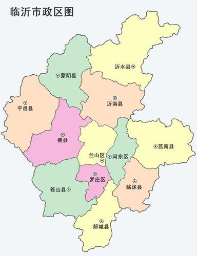临沂城区地图高清版