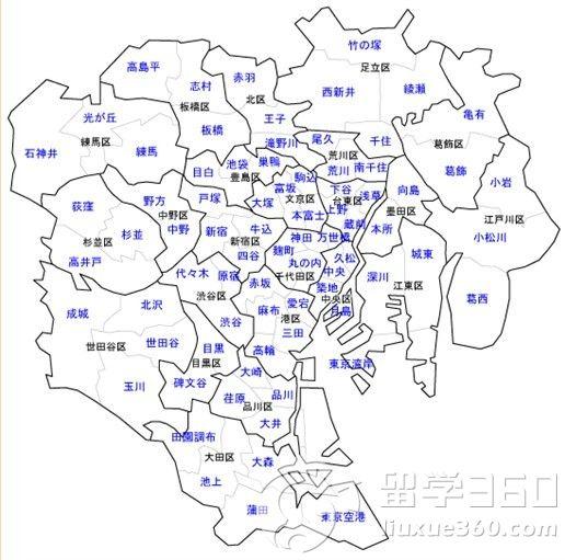 东京行政区划一览