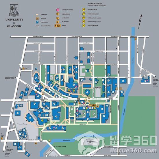 格拉斯哥大学地图