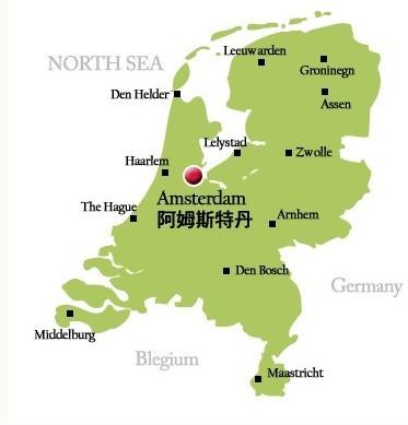 荷兰大学分布地图