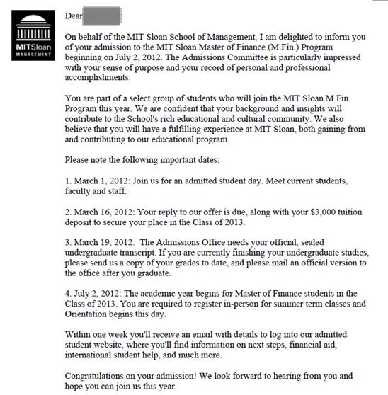 【麻省理工金融专业录取】惊闻!你的配合度决定了申请的顺利度!