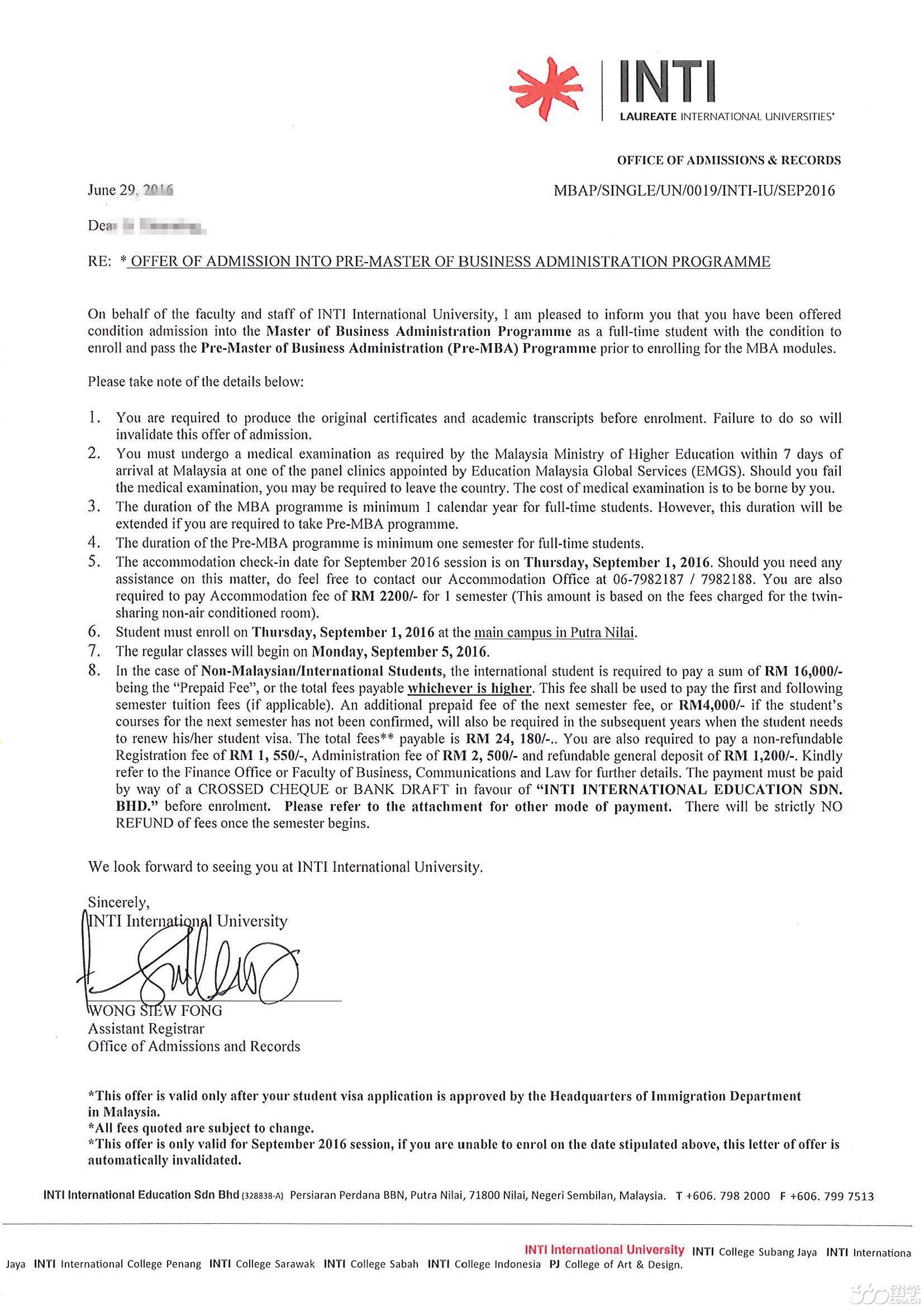 签证受阻转申请马来西亚,经廖老师成功办理惊喜发现自己更适合英迪
